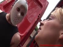 Скриншот для Парни в масках оттрахали сисястую шлюху