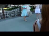 Скриншот для Рыжая девка согласилась трахнуться перед камерой на природе