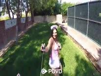 Скриншот для Соседку в секс наряде отодрали от первого лица